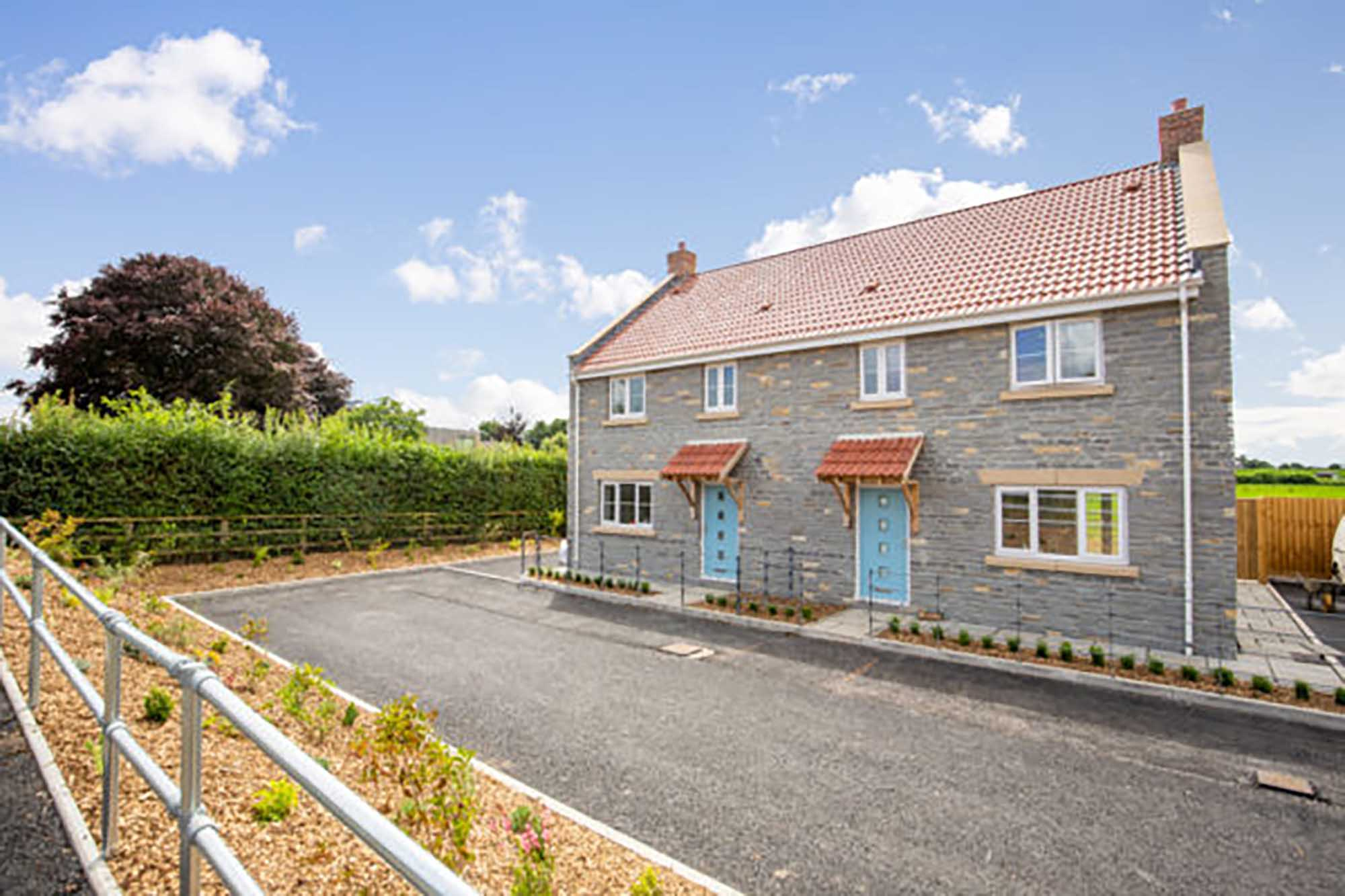 Newly built three bedroom semi detached houses in popular village