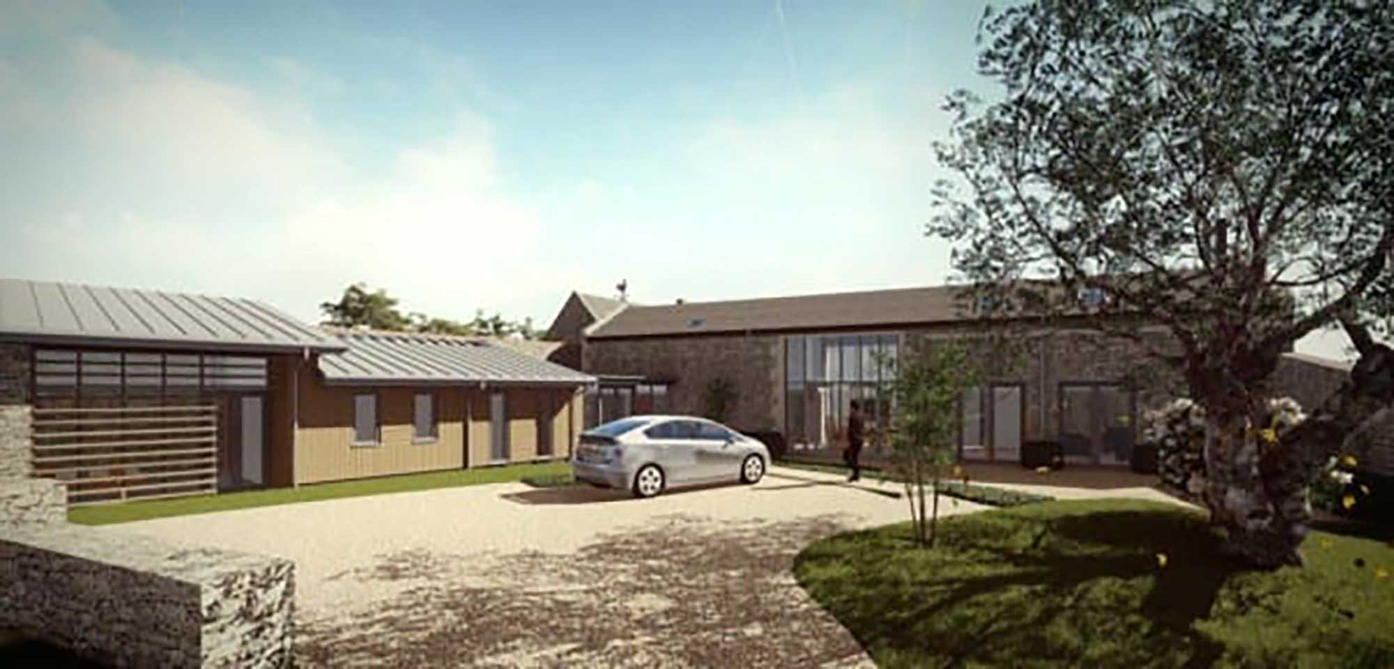 Barn with p/p to create a wonderful 4 bedroom dwelling.