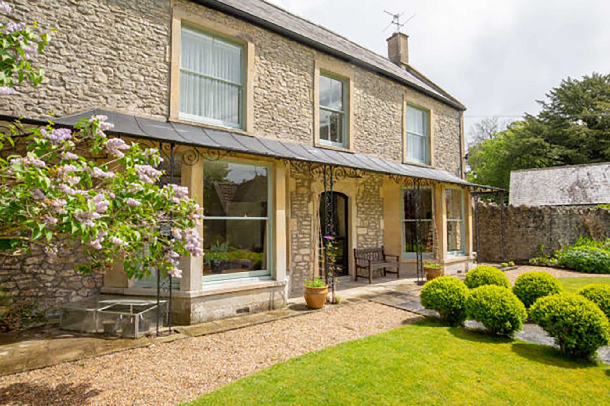 Large period house in tucked away location in town.