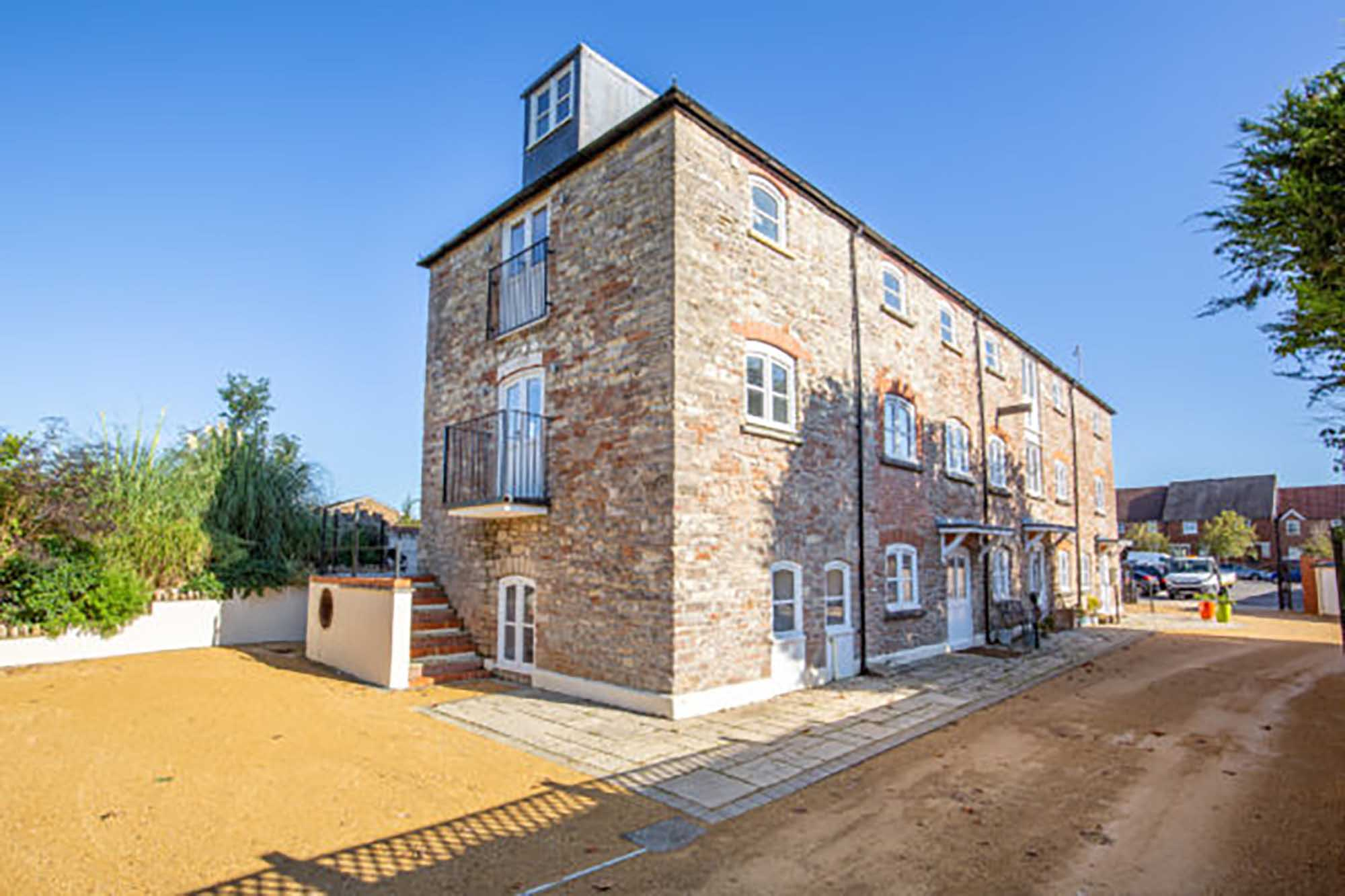 Interesting converted mill house, Wells