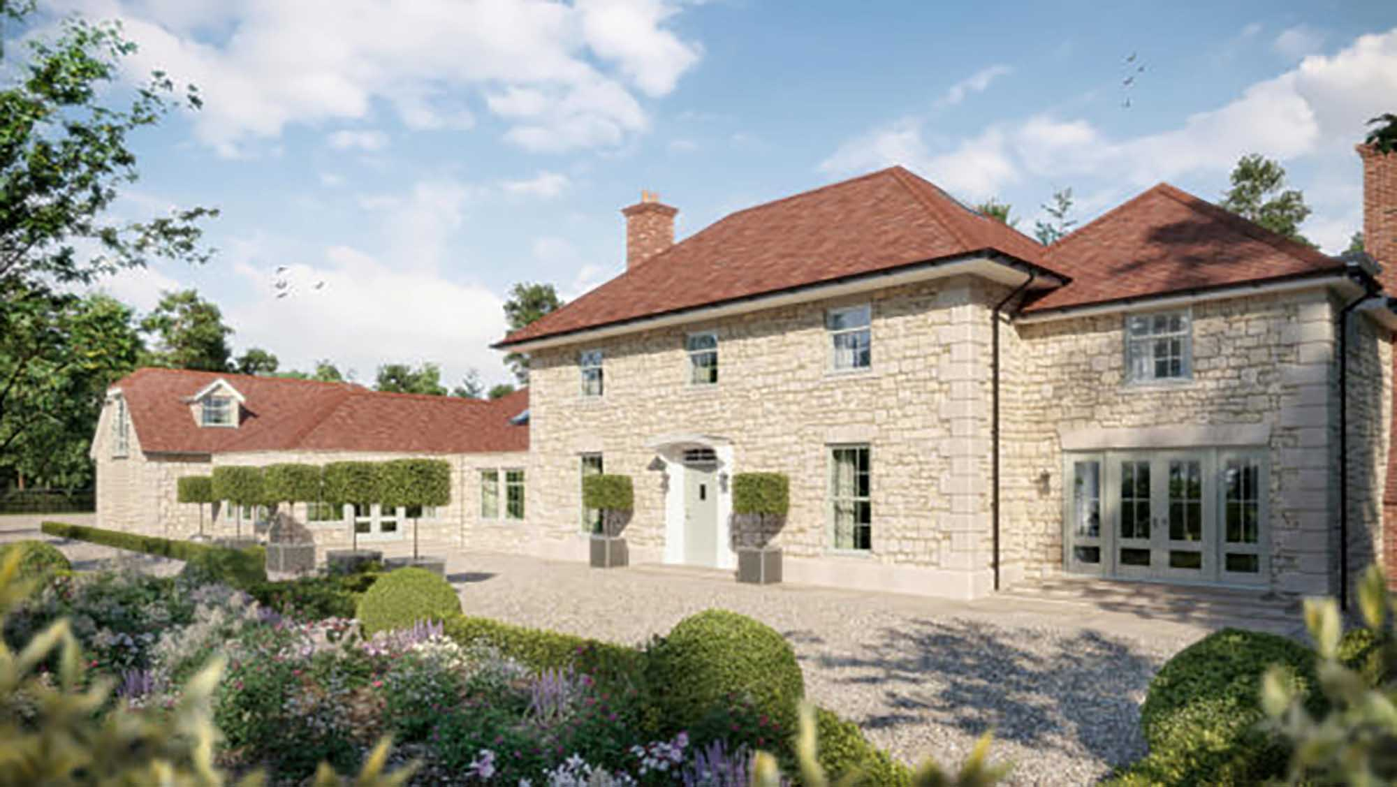 Fabulous new 5 bed family home with land.