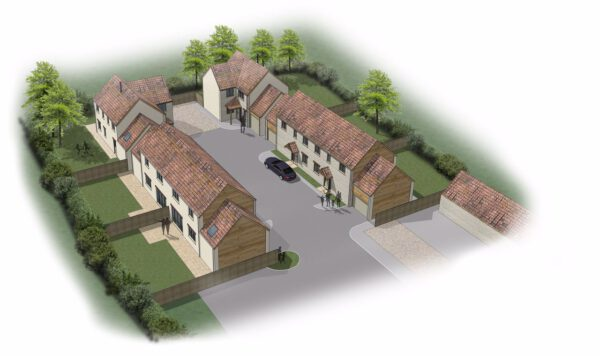 Exclusive development of six homes near Castle Cary